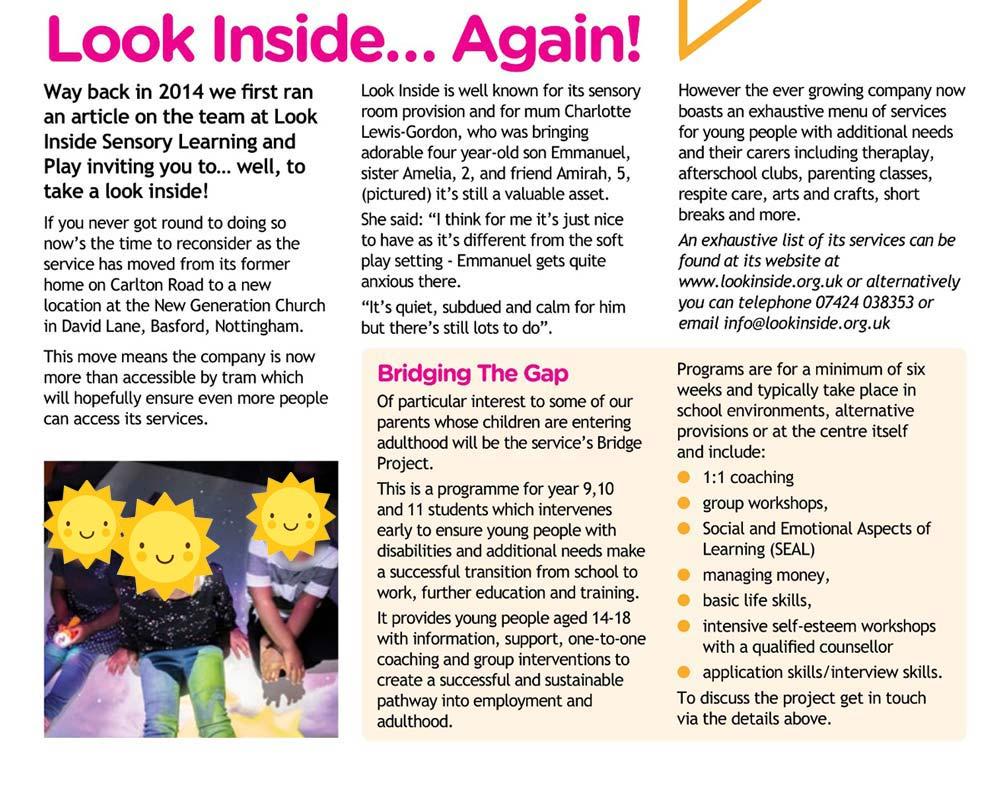 look inside magazine article